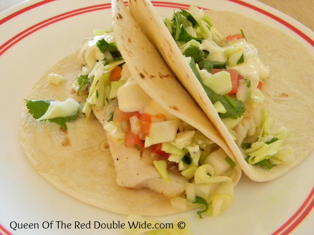 Fish tacos with cabbage slaw and homemade tartar sauce for Fish tacos cabbage