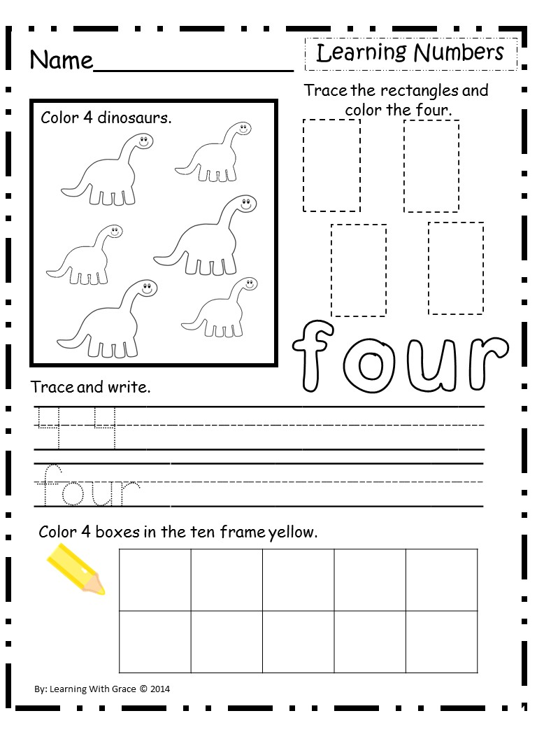 prek worksheets – Pre K Learning Worksheets