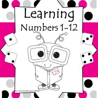 Learning Numbers 1 – 12  Worksheets and Flash Cards