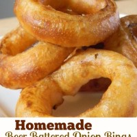 Homemade Beer Battered Onion Rings