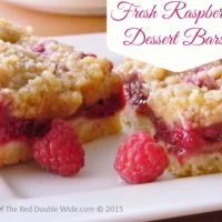 Fresh Raspberry Dessert Bars